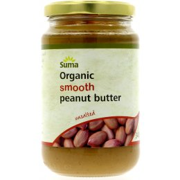 Suma Smooth Organic Peanut Butter (Unsalted) 340g