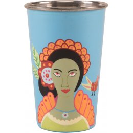 Hand Painted Tumbler - Turquoise