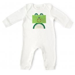 From Babies with Love Organic Frog Baby Grow