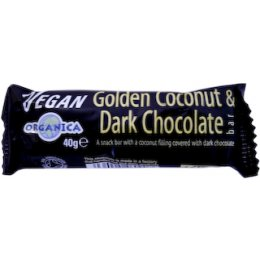 Organica Golden Coconut Dark Choc Bar 40g