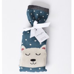 Thought Womens Polar Bear Bamboo Socks in a Bag Gift Set