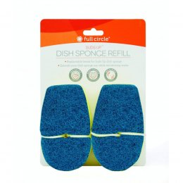 Full Circle Suds Up Replacement Sponge Head (2pk) - Green