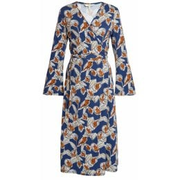 People Tree Sorrel Autumn Floral Wrap Dress