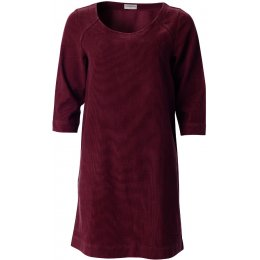Nomads Three Quarter Sleeve Tunic Dress - Plum