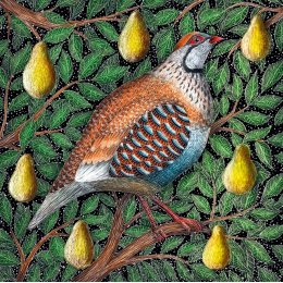 Partridge in a Pear Tree Charity Christmas Cards - Pack of 8