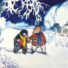 Ratty and Mole in the Snow Charity Christmas Cards - Pack of 8