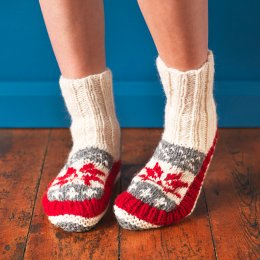 Womens Snowflake Lined Slipper Socks