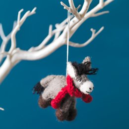 Hanging Christmas Tree Decoration - Donkey