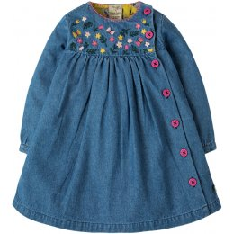 Frugi Little Edie Floral Embroidered Dress