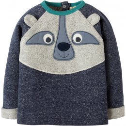 Frugi Forest Friend Raglan Top - Raccoon