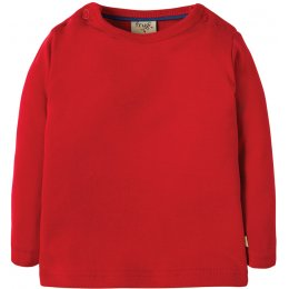 Frugi Favourite Long Sleeve Top - Red
