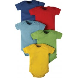 Frugi Over The Rainbow Baby Body - Pack of 5