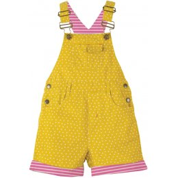 Frugi Caitlin Cord Dungaree - Gorse Speckle Spot