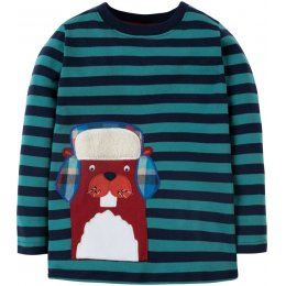 Frugi Discovery Applique Top - Beaver