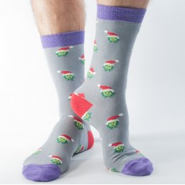 Doris & Dude Mens Christmas Sprout Bamboo Socks
