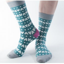 Doris & Dude Womens Heart Bamboo Socks