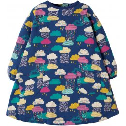 Frugi Becky Brushback Dress - Bright Scandi Skies