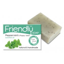 Friendly Soap Peppermint & Poppy Seeds Bath Soap - 95g