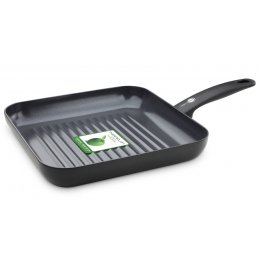 Green Pan Cambridge Aluminium Square Grillpan - 28cm