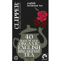 Clipper Organic English Breakfast Tea - 40 Bags