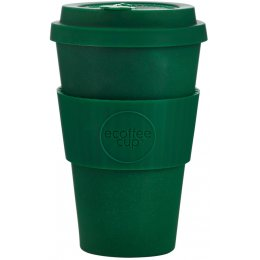Ecoffee Reusable Bamboo Coffee Cup - Dark Green - 400ml