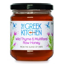 The Greek Kitchen Wild Thyme & Multifloral Greek Raw Honey - 250g