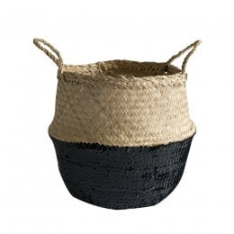 Toulouse Sequin Basket - Black Small