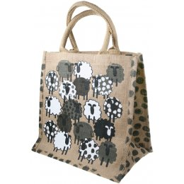 Reusable Jute Shopping Bag - Sheep