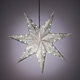 Mini 7 Point Star Hanging Decoration - Star & Dot Design