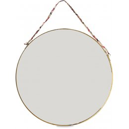 Kiko Antique Brass Large Round Mirror