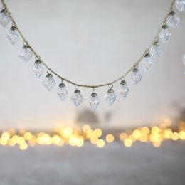 Ekiti Clear Crackle Glass Bauble Garland