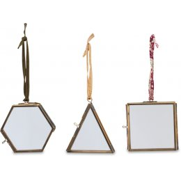 Tiny Kiko Decorations - Set of 3 - Antique Brass