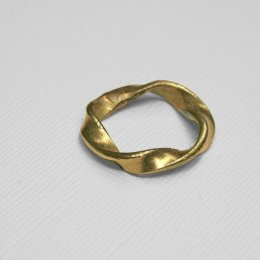 Made Brass Twisted Circle Ring