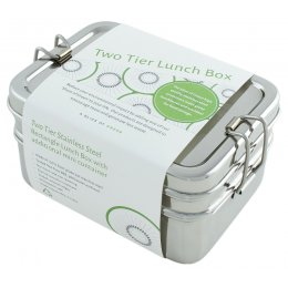 A Slice of Green Stainless Steel Two Tier Lunch Box with Mini Container