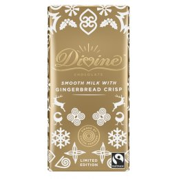 Divine Limited Edition Gingerbread Crisp Chocolate Bar - 90g