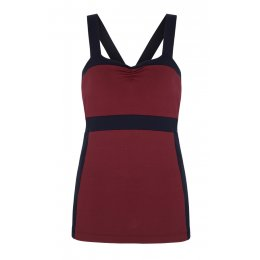 Asquith Bamboo & Organic Cotton Divine Cami - Claret & Navy