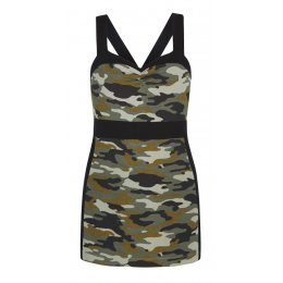 Asquith Bamboo & Organic Cotton Divine Cami - Camouflage & Jet Black