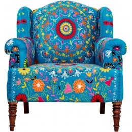 Crazy Daisy Embroidered Armchair