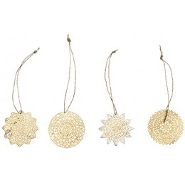 Sankari Small Brass Hanging Decorations - Set of 4
