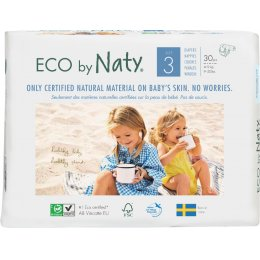 Eco By Naty Disposable Nappies Size 3 - Midi - Pack of 30