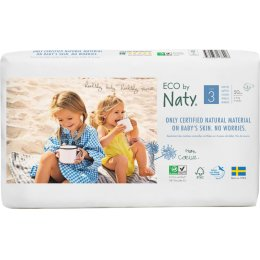 Eco By Naty Disposable Nappies Size 3 Economy Pack - Midi - Pack of 50