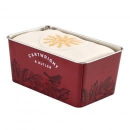 Cartwright & Butler Iced Christmas Loaf Cake in Tin - 660g