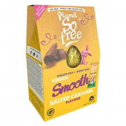 Plamil So Free Vegan Smooth Salted Caramel Easter Egg with Bunny Bar - 110g