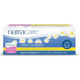 Natracare Organic Cotton Tampons - Super Plus - 20 test