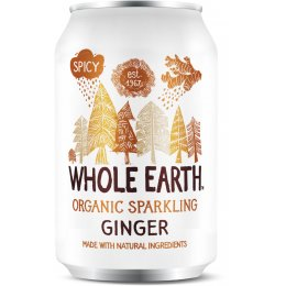 Whole Earth Organic Sparkling Ginger 330ml