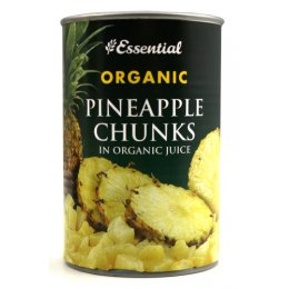 Essential Trading Pineapple Chunks In Organic Juice 400g