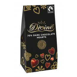 Divine Dark Chocolate Hearts 100g