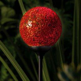 Solar Powered Garden Globe Light - Murano Sunset test