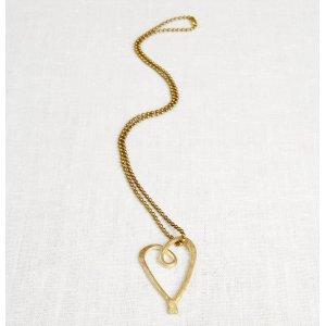 La Jewellery Recycled Brass Love Necklace