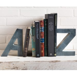 A to Z Stone Bookends